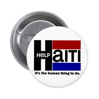 Help Haiti CHARITY DESIGN 6 Cm Round Badge