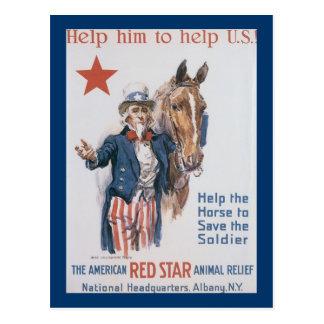 Help Him to Help U.S.! Postcard