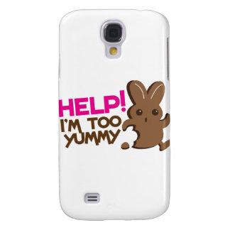 HELP ! I'm too YUMMY! Easter bunny Chocolate run Galaxy S4 Cover