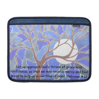 Help in time of need - Hebrews 4:16 - Bible verse Sleeves For MacBook Air