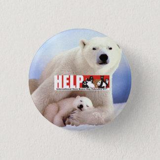 help ISBD Polar Bears 3 Cm Round Badge