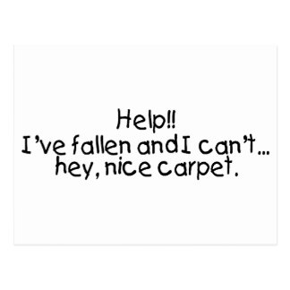 Help Ive Fallen And I Cant...Hey Nice Carpet Postcard