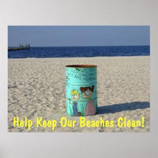 Help Keep Our Beaches Clean Poster