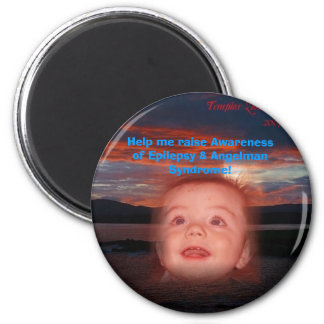 Help me raise Awareness! 6 Cm Round Magnet