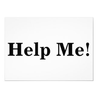 Help Me Sign Card