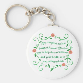 Help our health and environment basic round button key ring