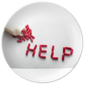 Help pills 10.75 Decorative Porcelain Plate