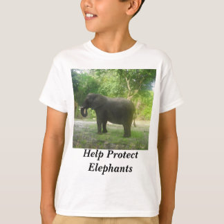 Help Protect Elephants Kids T-shirt