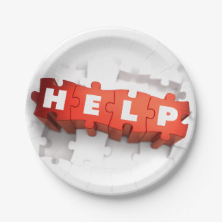 Help Puzzle Pieces Paper Plates 7 Inch Paper Plate