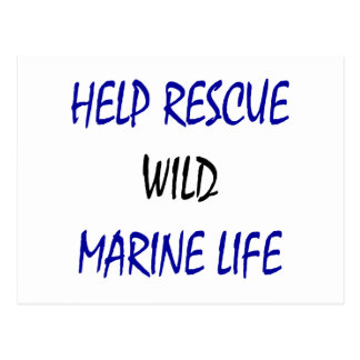 Help Rescue Wild Marine Life Post Cards