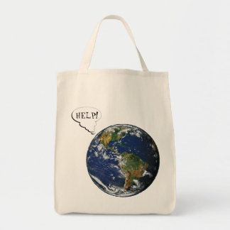 Help! Save the planet Canvas Bag