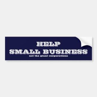 Help small business car bumper sticker