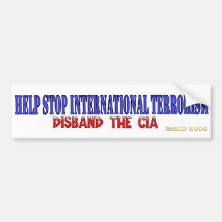 Help Stop International Terrorism Bumper Sticker