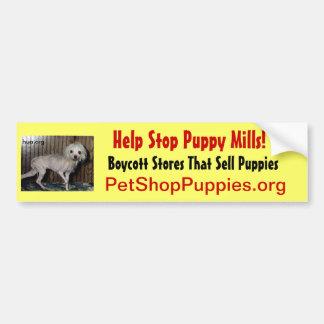 Help Stop Puppy Mills Bumper Sticker