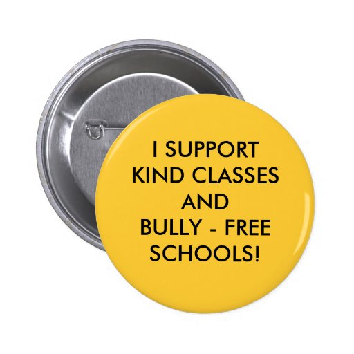 HELP STOP SCHOOL BULLYING! PINBACK BUTTONS