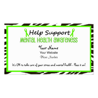 Help Support Mental Health Businesscards Pack Of Standard Business Cards