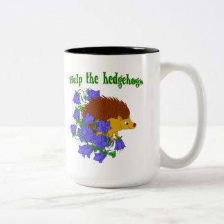 Help the Hedgehogs Two-Tone Coffee Mug