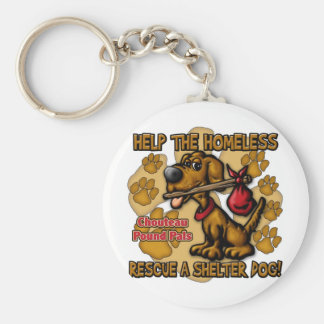 Help the Homeless Basic Round Button Key Ring
