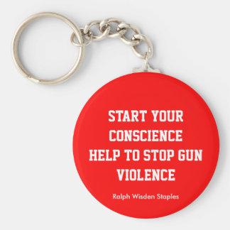 help to end gun violence key chain