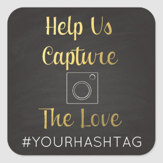 Help Us Capture The Love Hashtag Stickers