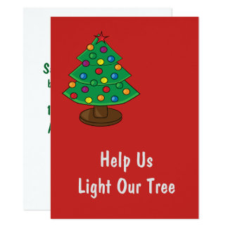 Help Us Light Our Christmas Tree Card