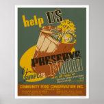 Help us Preserve your Surplus Food - WPA Posters