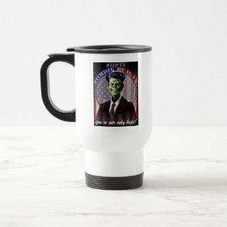 Help Us Zombie Reagan! two-sided Travel Mug