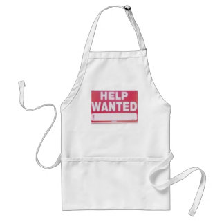 help wanted adult apron