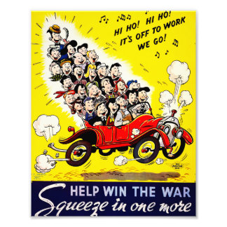 Help Win the War - Carpool Photo Print