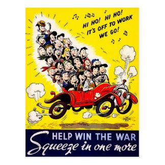 Help Win the War - Carpool Postcard