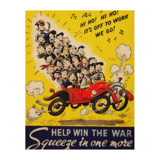 Help Win the War - Carpool Wood Wall Art