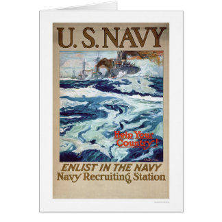 Help Your Country - Enlist in the Navy (US02286B) Card