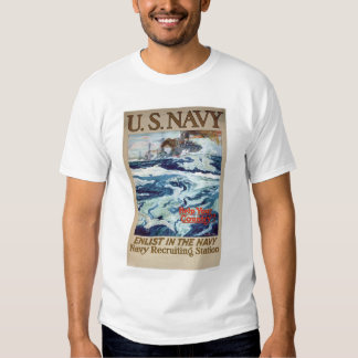 Help Your Country - Enlist in the Navy (US02286B) T-shirts