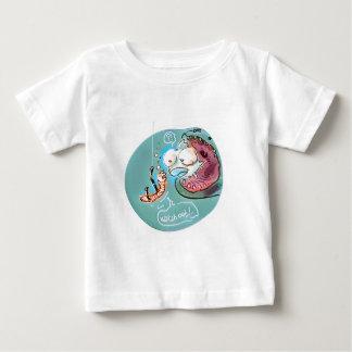 helpful fishbait earthworm funny cartoon baby T-Shirt