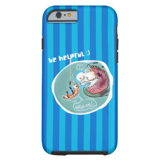 helpful fishbait earthworm funny cartoon tough iPhone 6 case