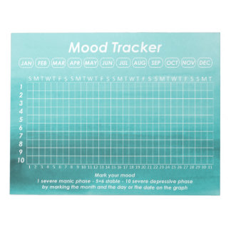 Helpful Mood Tracker For Bipolar Disorder Symptoms Notepad