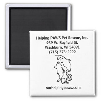 Helping PAWS Pet Rescue magnet