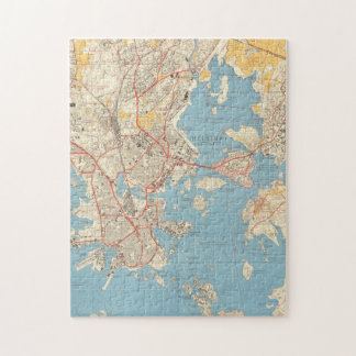 Helsinki 1961 palapeli   Map Jigsaw Puzzle