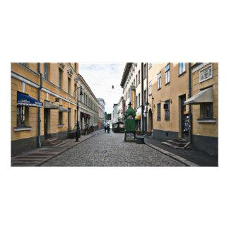 Helsinki city street picture card