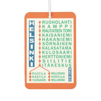 Helsinki Metro Stations car air freshner Car Air Freshener