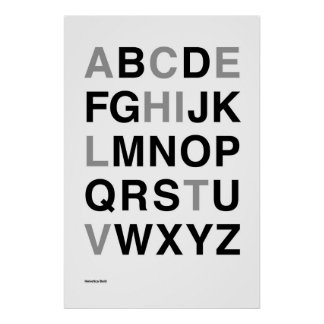 Helvetica Bold Poster