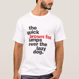 helvetica-quickbrownfox T-Shirt