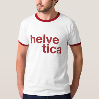 helvetica red T-Shirt
