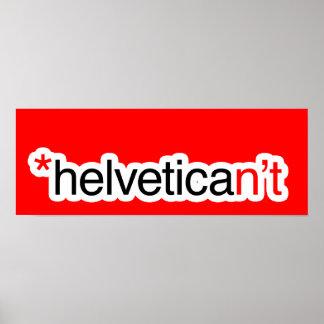 helvetican't poster