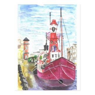Helwick Tug Boat Swansea Postcard