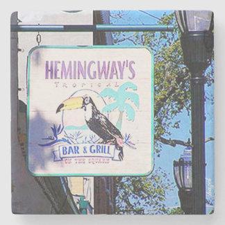 Hemingways, Marietta, Ga. Marble Stone Coaster. Stone Coaster