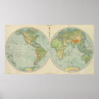 Hemispheres 12 physical poster