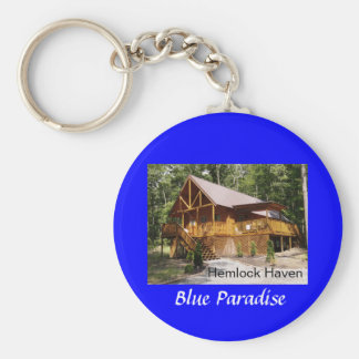Hemlock Haven Blue Paradise Key Ring