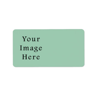 Hemlock Light Green Color Trend Blank Template Address Label