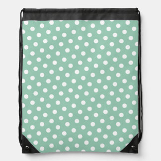 Hemlock & White Polka Dot Pattern Drawstring Bag